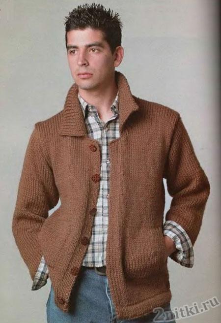 Вязаная куртка и шапка (Вязание для мужчин) Вязание 18